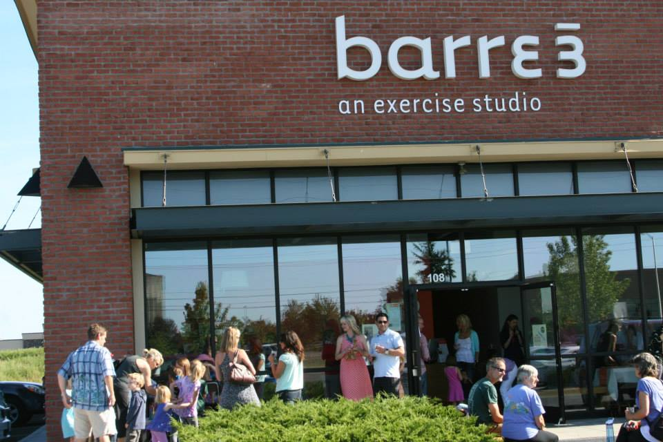 Barre 3 Exterior Sign by Coho Design