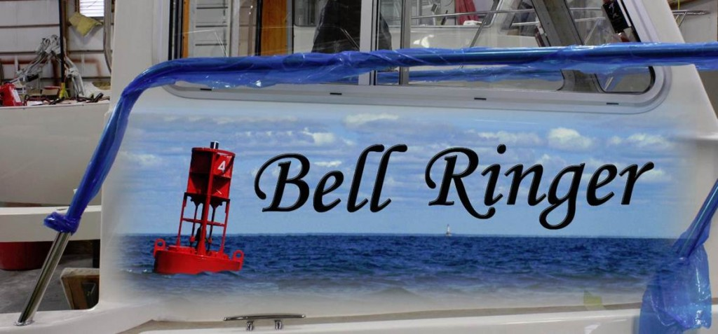 Bell Ringer Custom Boat Wrap by Coho Design