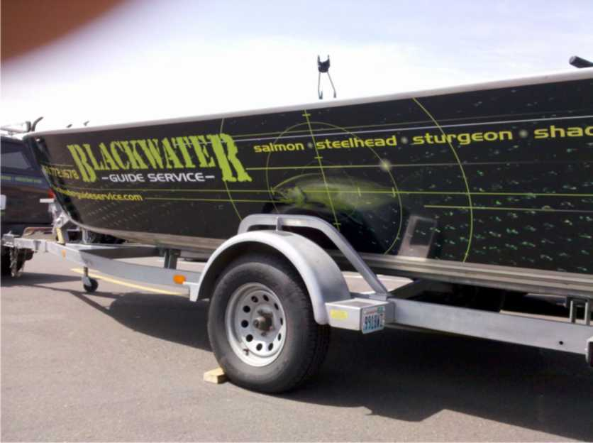 Blackwater Guide Custom Boat Wrap by Coho Design