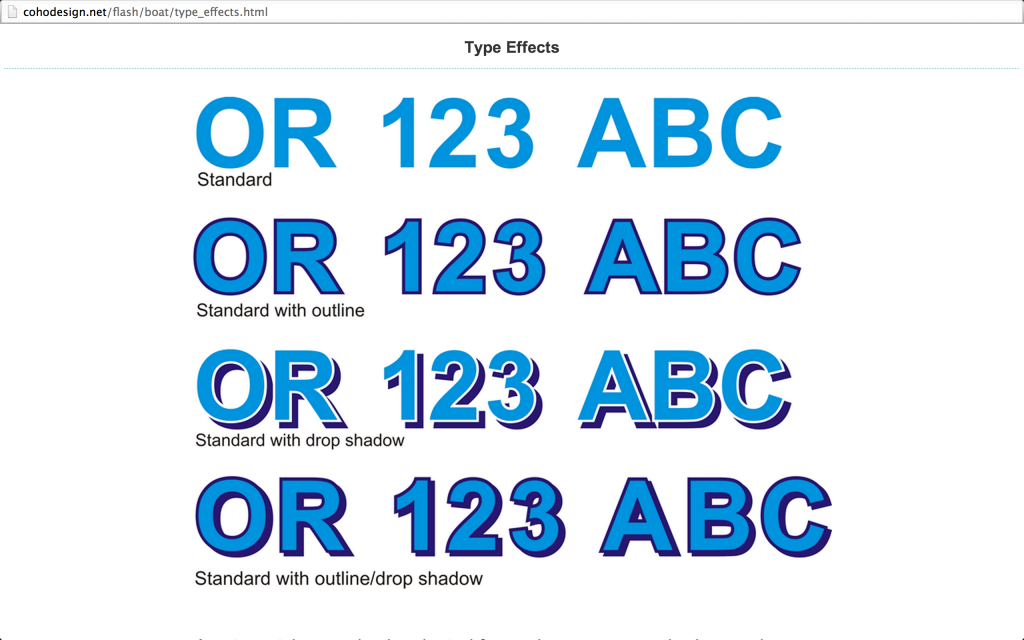 Type Effect Options From Coho Design