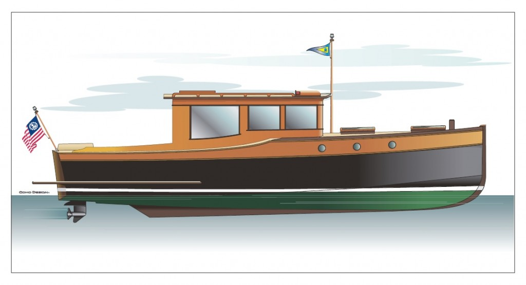 Boat Illustration By Coho Design