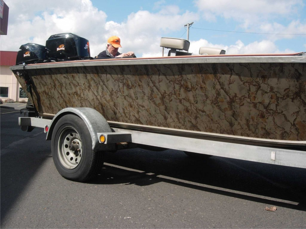 Camo Boat Wrap By Coho Design