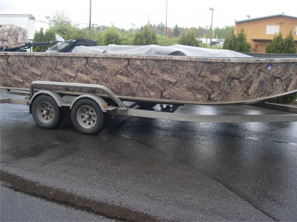 Camo Boat Wrap By Coho Design