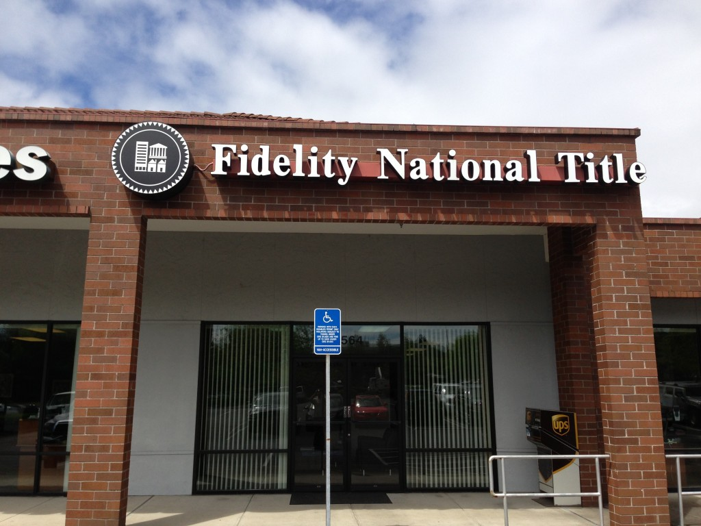 Fidelity National Title Signage by Coho Design