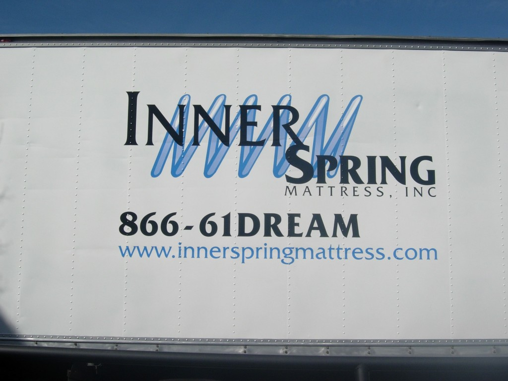 Inner Spring Mattress Truck Decal By Coho Design