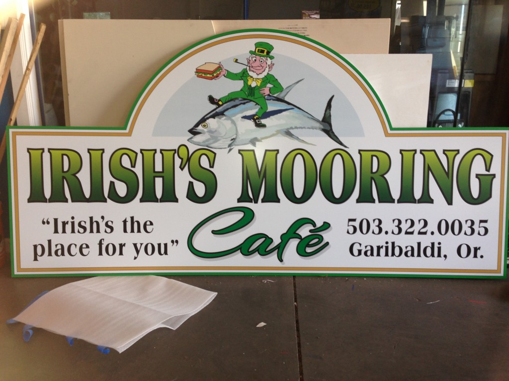 Irish Mooring Cafe Signage by Coho Design