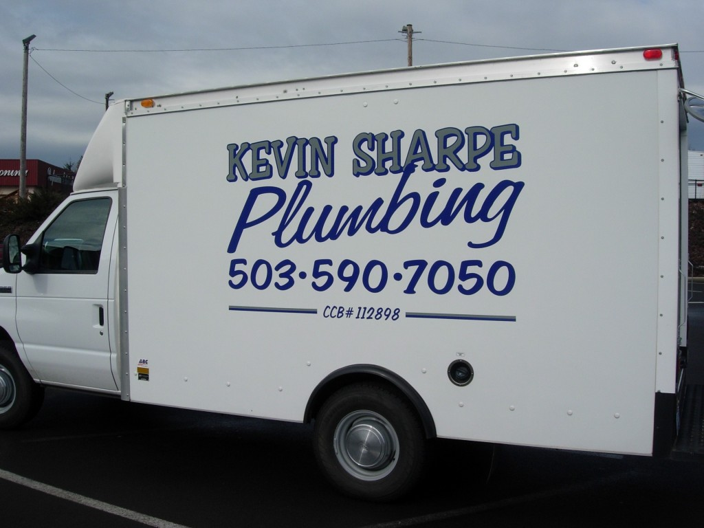 Kevin Sharpe Plumbing Decal By Coho Design