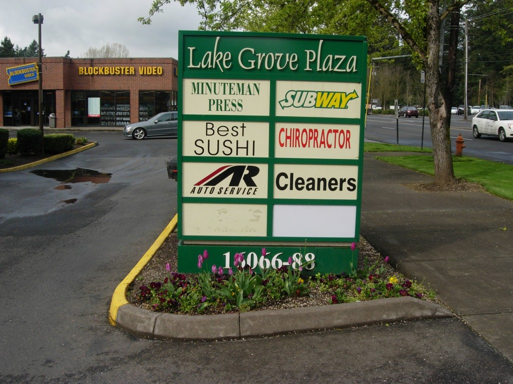 Lake Grove Plaza Signage by Coho Design