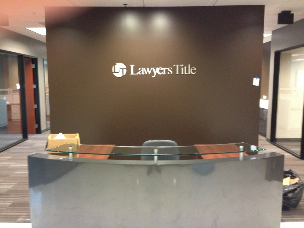 Lawyers Title signage by Coho Design