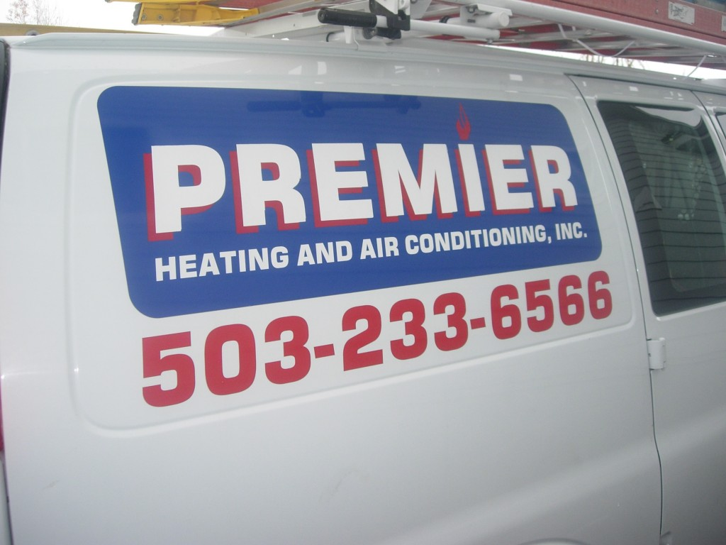 Premier Heating and Cooling Truck Decal By Coho Design