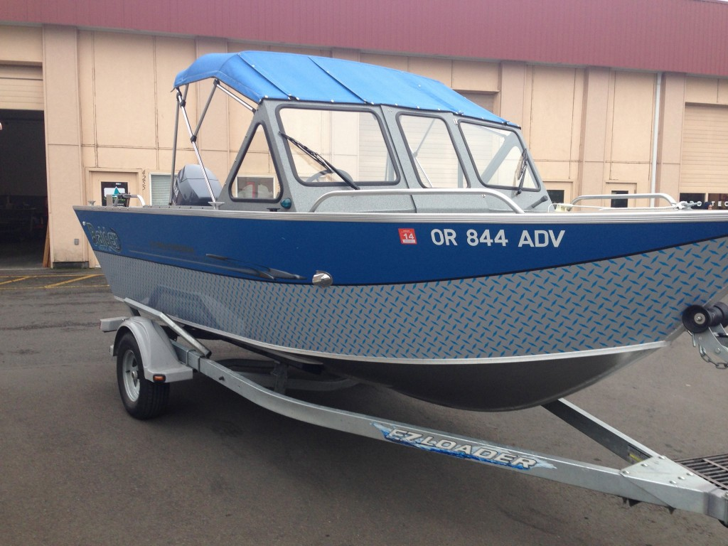 OR 844 ADV Custom Boat Wrap by Coho Design