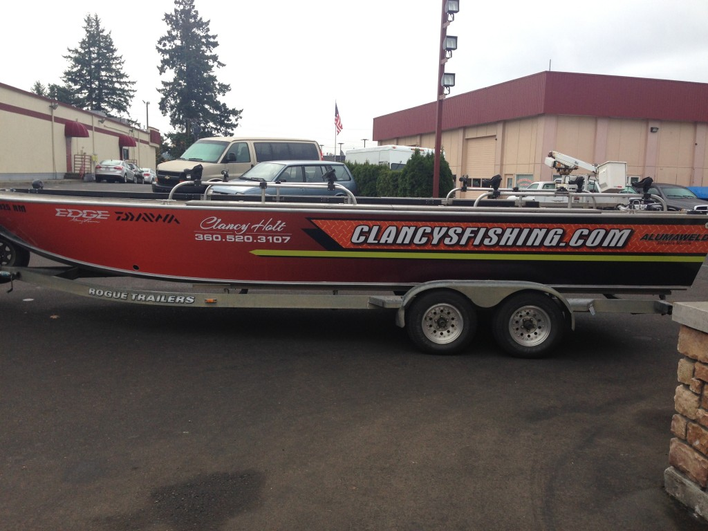 Clancy Fishing Custom Boat Wrap by Coho Design