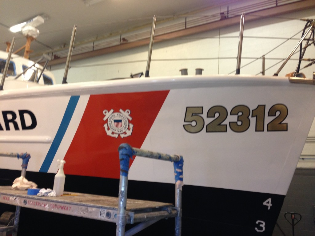 Coast Guard Custom Boat Wrap by Coho Design