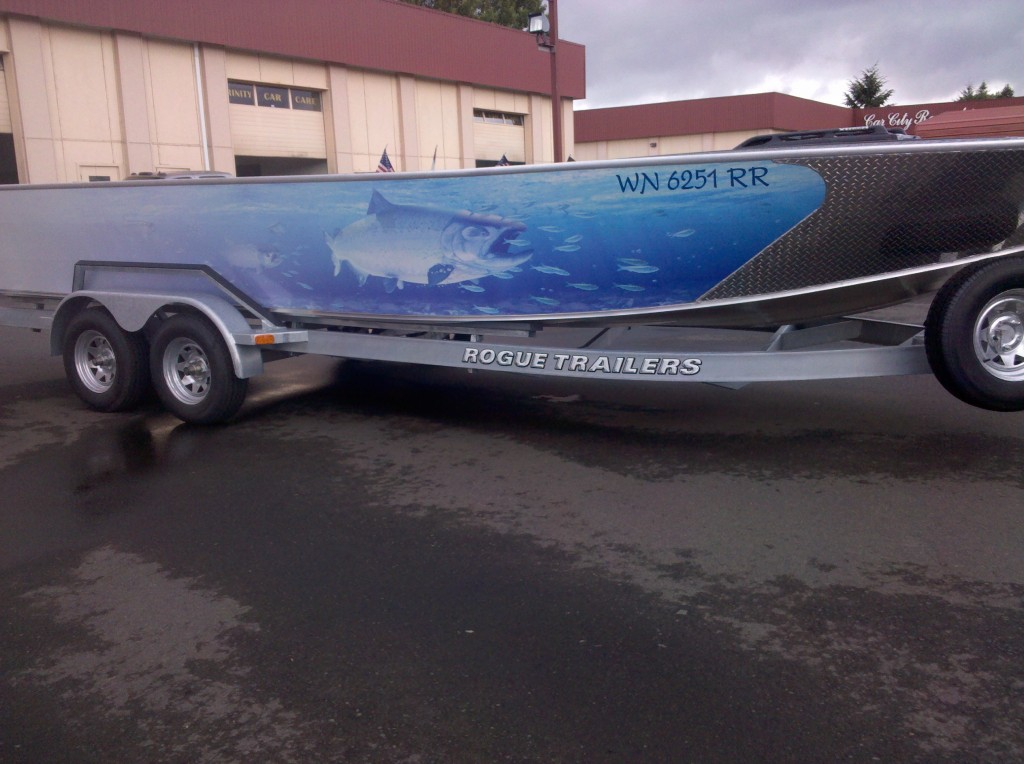 Custom Fish Custom Boat Wrap by Coho Design