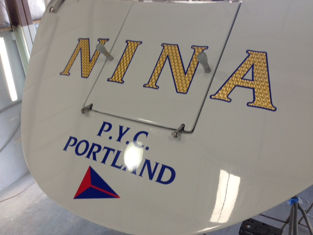 NINA Custom Boat Wrap by Coho Design