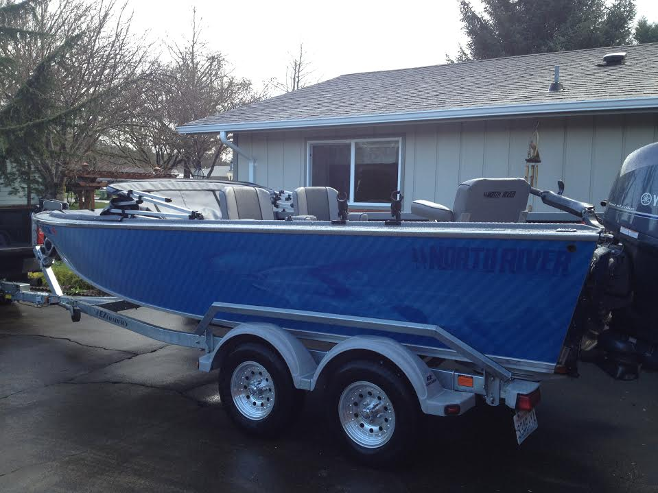 North River Custom Boat Wrap by Coho Design