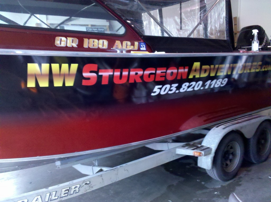 NW Sturgeon Adventures Custom Boat Wrap by Coho Design