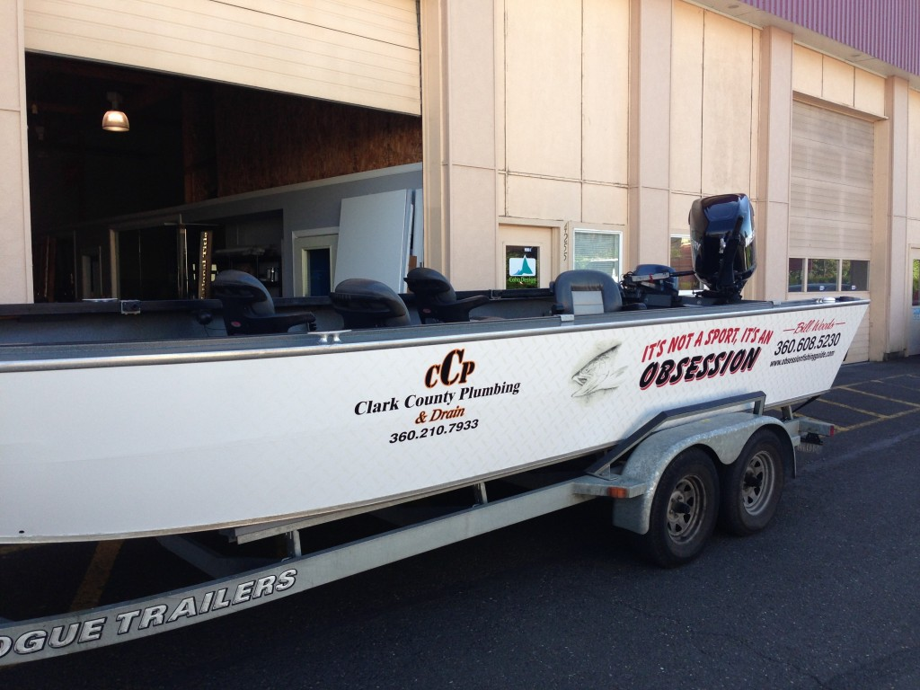 Obsession Fishing Guide Custom Boat Wrap by Coho Design