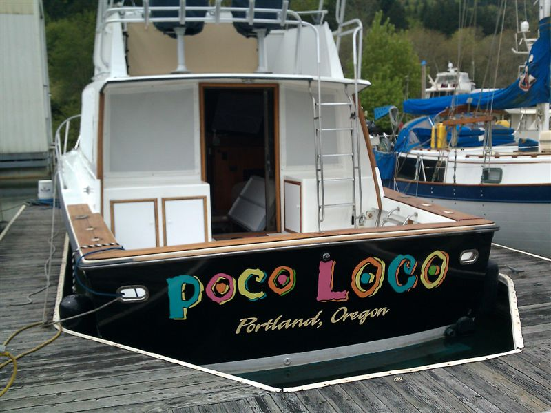 Poco Loco Custom Boat Wrap by Coho Design