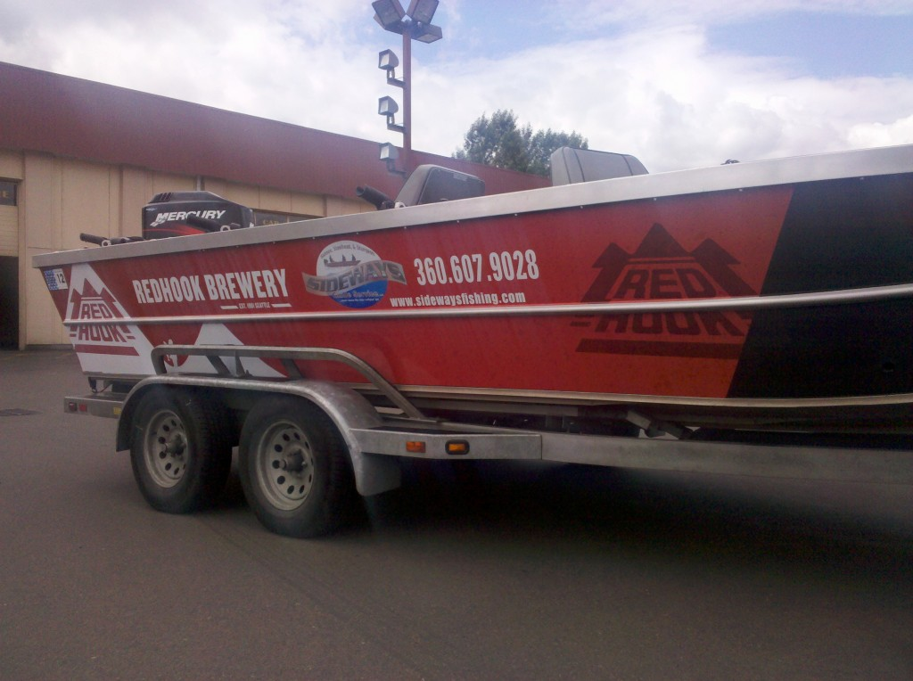 Red Hook Brewery Custom Boat Wrap by Coho Design