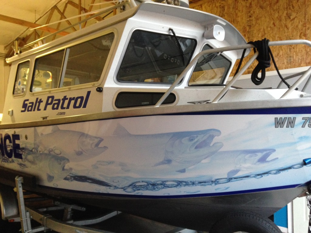Salt Patrol Custom Boat Wrap by Coho Design