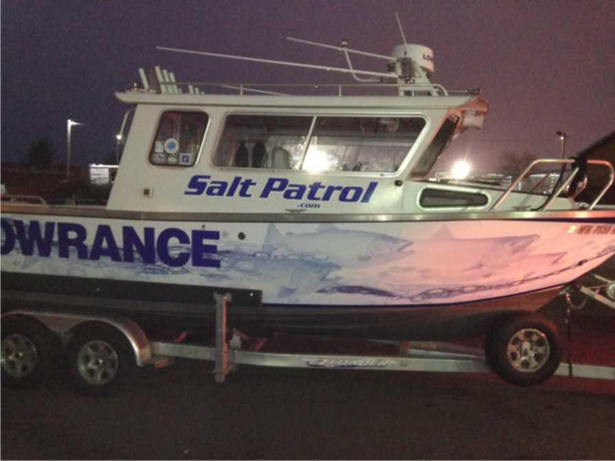 Salt Patrol Custom Boat Wrap by Coho Design