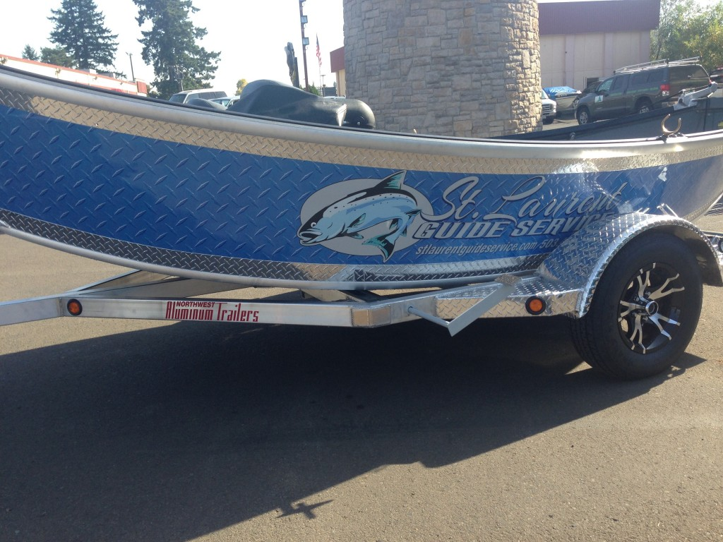 St Laurent Guide Service Custom Boat Wrap by Coho Design