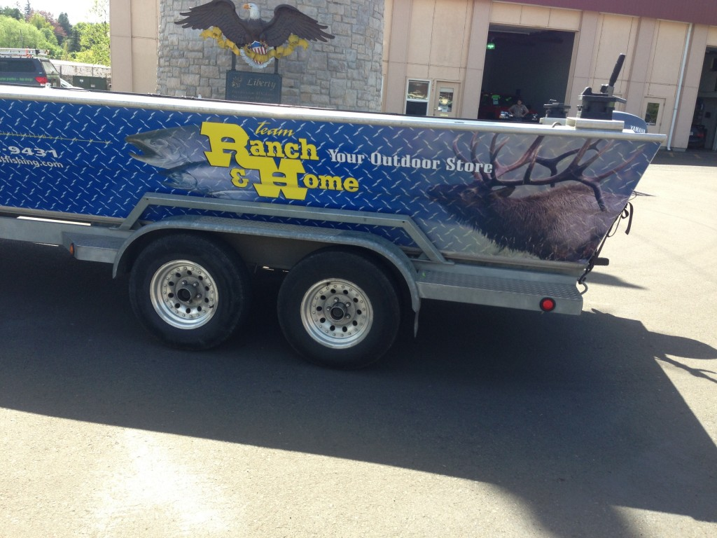 Team Ranch and Home Custom Boat Wrap by Coho Design
