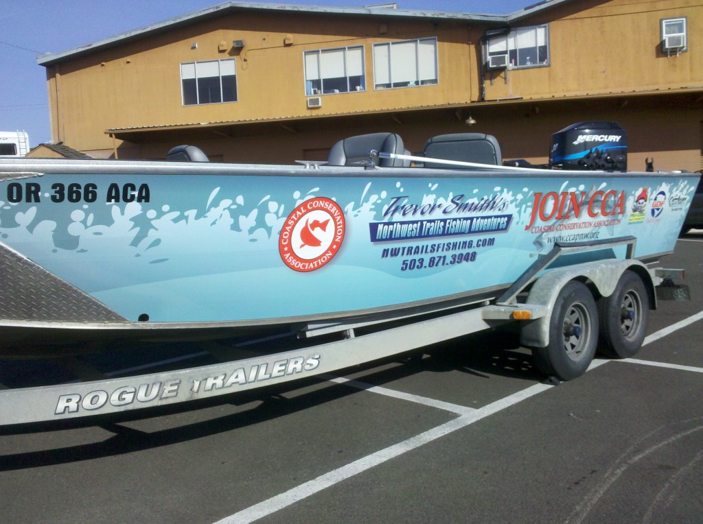 Trevor Smiths Custom Boat Wrap by Coho Design