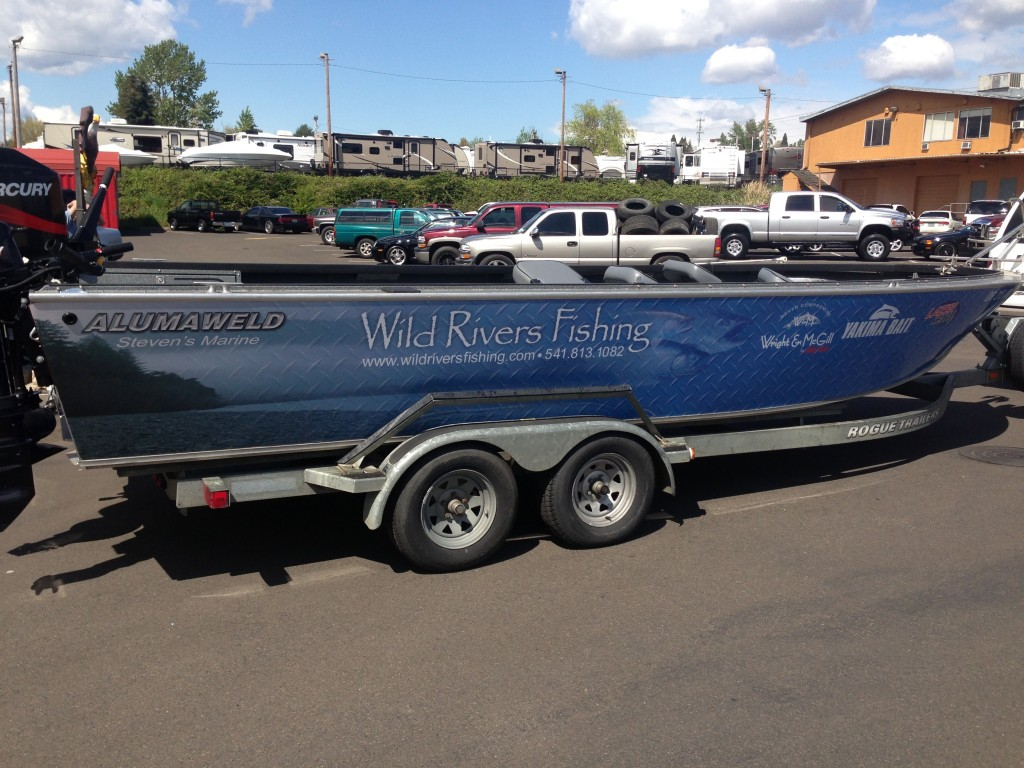 Wild Rivers Custom Boat Wrap by Coho Design