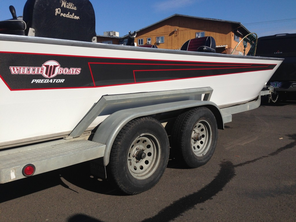 Willie Boat Predator Custom Boat Wrap by Coho Design