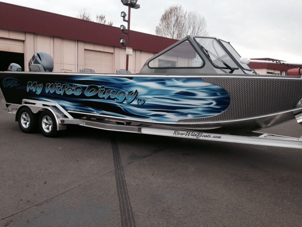 My Wife's Dingy Custom Boat Wrap by Coho Design