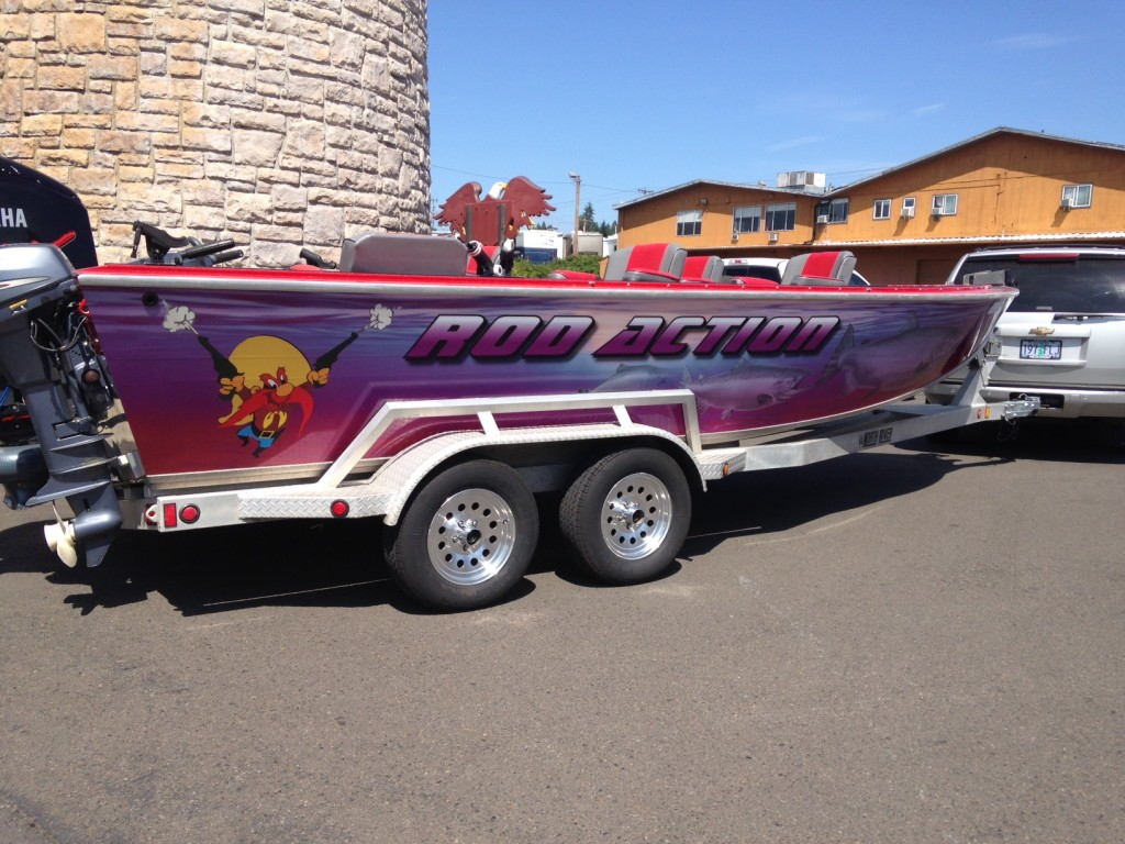 Rod Action Custom Boat Wrap by Coho Design