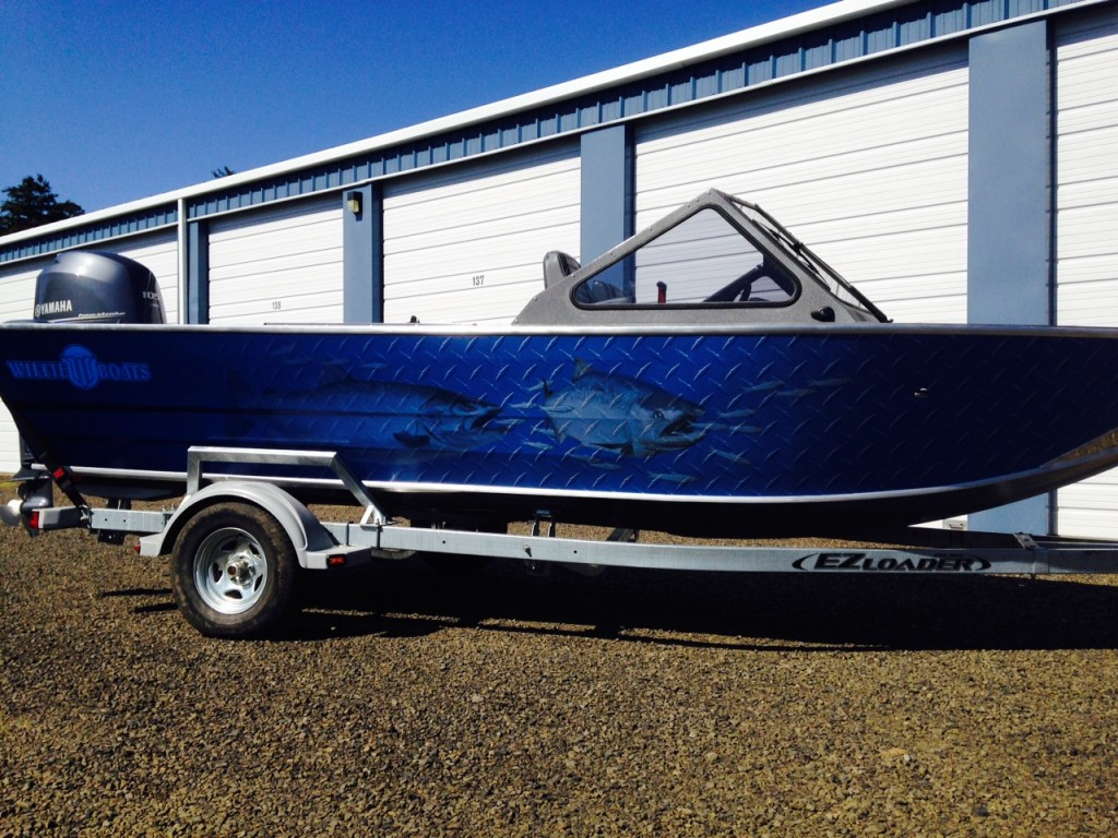 Willie Boats Custom Boat Wrap by Coho Design
